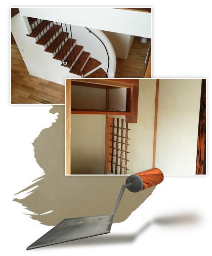 左官とは建物の壁や床をコテを使って塗り仕上げる職種のことです。